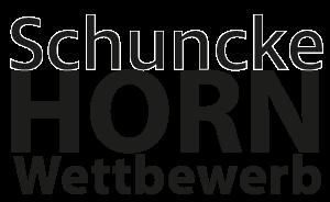 Schriftzug Schuncke Hornwettbewerb